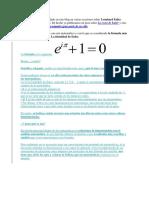 Para Que Se Usa La Identidad de Euler