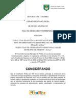 Plan de ordenamiento territroial Pitalito Huila 2015