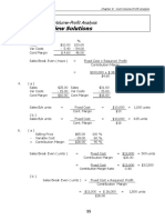 Student Solutions Chapter 8 Cost Volume Profit Analysis