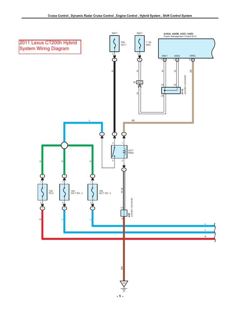 2011 Lexus CT200h Hybrid System Wiring Diagram | Transportation Engineering  | Automotive Industry | Hybrid Wiring Diagrams |  | Scribd