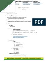 Sample Lesson Plan (Detailed)