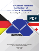 Georgian-German Relations in the Context of Euro-Atlantic Integration - How to Align Expectations?