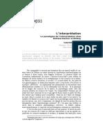 Le Paradigme de l Interpretation Chez Schleiermacher Et Dilthey