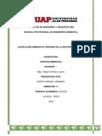 Legislacion Ambiental Del Peru