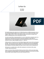 Surface Go Fact Sheet