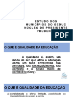 Estudo Dos Dados Dos Municípios Do GEDUC [Pres. Prudente]