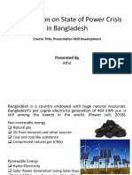 Presentation on State of Power Crisis in Bangladesh