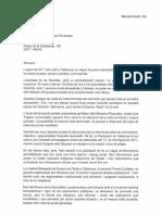 Carta a la Ministra de Defensa