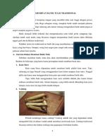 Cara Membuat Batik Tulis Tradisional