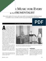 Chamber Music for Every Instrumentalist - James E. Latten