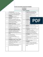 Fire Prevention Inspection Checklist