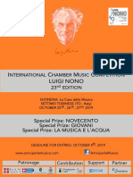 International Chamber Music Competition Luigi Nono 23rd Edition