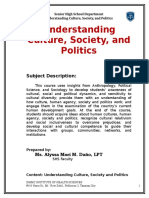 Understanding Culture, Society and Politics Text Manual