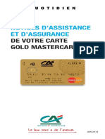 Notice Assurance Assistance Gold Mastercard