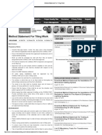 Method Statement for Tiling Work