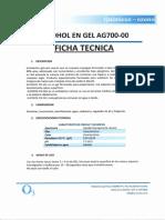 10. Ficha Tecnica - Alcohol en Gel AG700-00
