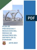 6213 Plan de Prevencion y Reduccion Del Riesgo de Desastres Del Distrito El Porvenir 2019 2021