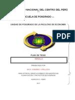 Esquema Basico de Un Proyecto e Informe Final de Tesis