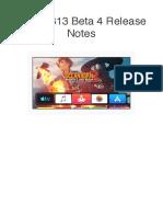 TvOS 13 Beta 4 Release