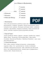 توصيف المقررات مفردات الماجستير - كيمياء حيوية