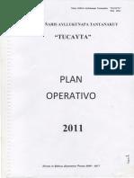 TUCAYTA-Plan Operativo 2011