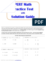 Pert Math Practice (Complete Packet) (1)