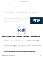 IOSH Questions and Answers12