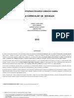Plan de Area de Sociales 2019