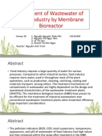 Treatment of Wastewater of Food Industry by Membrane