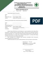 Surat Ket Tdk Sdg Menjalani Hukuman
