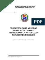 Propuesta Actualizar Servicio de Correo y Proxmox Fmnh