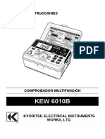Manual Kewtech 6010B