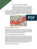 Depreciación y Devaluación de La Moneda