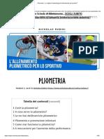 Pliometria - La Migliore Metodologia Di Allenamento Per Sportivi