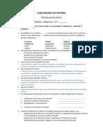 Cuestionario de Sociales / Ser bachiller