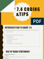 ABAP 7.4 Coding