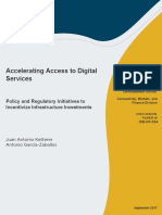 Accelerating Access to Digital Services Policy and Regulatory Initiatives to Incentivize Infrastructure Investments
