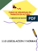 Legislacion para elevacion de cargas