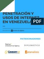 Penetración y Usos de Internet en Venezuela