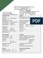 Welding Procedure Qualification