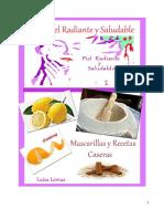 ! Una Piel Radiante y Saludable! Mascarillas y Recetas Caseras - PDF
