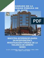 Dossier de posgrado UPEA