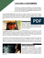 Ecuador Cultura y Costumbres