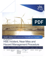 Incident Hazard Near Miss Management Procedure