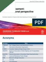Bridge Assessment an International Perspective