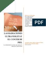 las radiaciones ultravioletas y el cancer de piel
