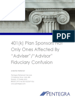 401k Plan Sponsors Not Only Ones Affected by Adviser Advisor Fiduciary Confusion