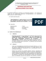 Memeoria Descriptiva Inst Electrica y Especiales Timpia