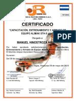 Certificado de Capacitacion