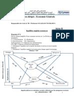TD Economie Générale ENSAM Serie II Et III
